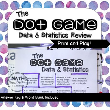 The Dot Game: Data and Statistics Review