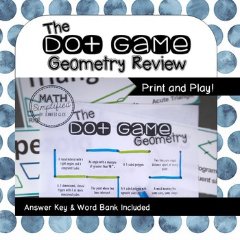 The Dot Game: Geometry Review