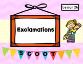 The Dot (Journeys Lesson 26, 1st Grade) EXCLAMATIONS Grammar Task Cards