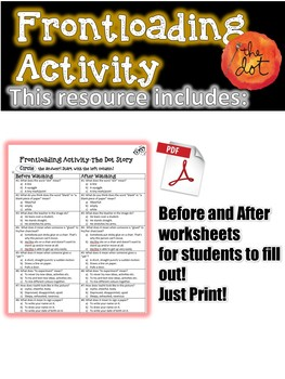 The Dot Story Frontloading Activity for ESL Students