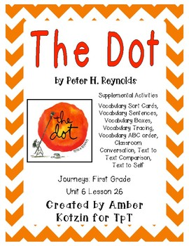 The Dot Supplemental Activities 1st Grade Journeys Unit 6, Lesson 26