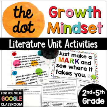 The Dot by Peter Reynolds Activities: A Growth Mindset Unit