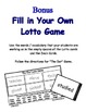 The Dot (by Peter H. Reynolds) Supplemental Lotto Game - With Extra Template