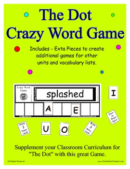 The Dot (by Peter H. Reynolds) Supplemental Word Game - Support Vocabulary
