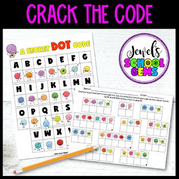 The Dot by Peter Reynolds Growth Mindset Activities (Dot Day Secret Dot Code)