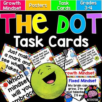The Dot by Peter Reynolds Task Cards (Great for Using on International Dot Day!)