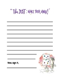 The Dot by Peter Reynolds Writing Template
