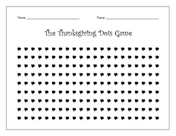 The Dots Game – 11 Printable Seasonal Dots Games – Great partner work!