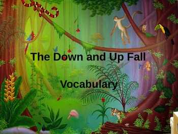 The Down and Up Fall Vocabulary Powerpoint