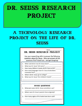 The Dr. Seuss Project: An Online Research Activity