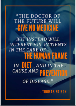 The Dr of The Future Fitness Poster  Gr. 6-12 Physical Education, Health