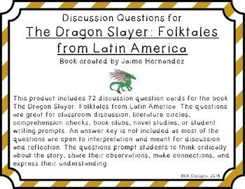 The Dragon Slayer Novel Study Discussion Question Cards
