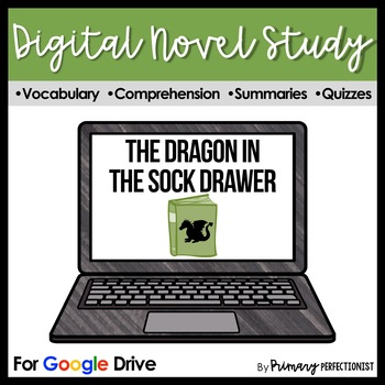 The Dragon in the Sock Drawer Digital Novel Study and Reading Quizzes for Google