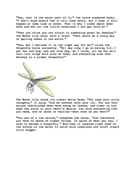 The Dragonfly and the Water Lily. Story with worksheets and an activity.