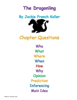 The Dragonling by Jackie French Koller - Chapter Questions
