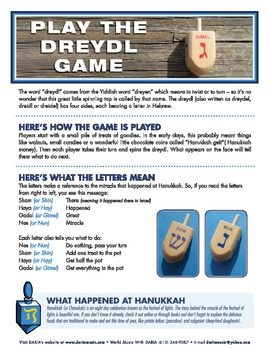 The Dreidel (or Dreydl) Game