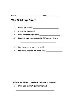 The Drinking Gourd: A Story of the Underground Railroad Novel Study