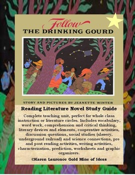 The Drinking Gourd by F.N. Monjo ELA Novel Reading Study Guide Teaching Unit