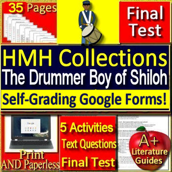 The Drummer Boy of Shiloh 8th Grade HMH Collections 3 - Activities and Test HRW