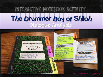 The Drummer Boy of Shiloh Interactive Notebook Dialogue Activity