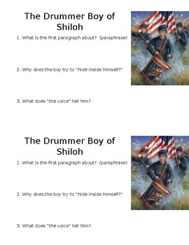 The Drummer Boy of Shiloh Mini-Quiz