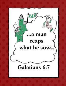 The Duchess Bakes a Cake Bible Verse Printable (Galatians 6:7)