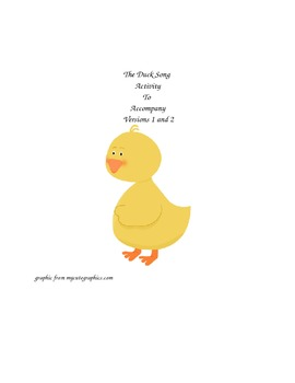 The Duck Song 1 and 2 Questions and Activities