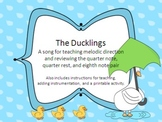 The Ducklings - rhythm and melodic direction activity