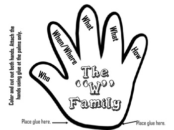 The Duhbuhyou Family: Story Elements- The Five Ws Mini Flip Chart