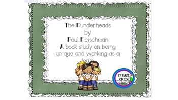 The Dunderheads- response to a picture book