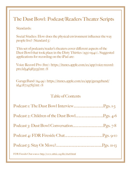 The Dust Bowl: Podcast/Reader's Theater Scripts