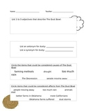 The Dust Bowl Question Sheet