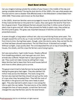 Dust Bowl- Science LDC Common Core Wind Erosion Lesson