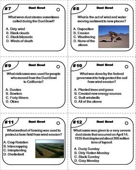 The Dust Bowl Task Cards (Great Depression Unit)
