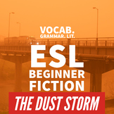 The Dust Storm -- ESL Beginner Fiction with Vocabulary and