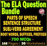 The ELA Question Pack | High School Grammar Worksheets | B