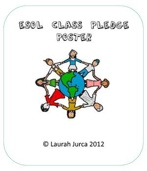 The ESOL Class Pledge Poster
