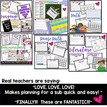 Editable Sub Binder & 8+ Days of Sub Plans & Activities!!! EVERYTHING you need!
