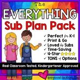 Editable Sub Binder & 8+ Days of Sub Plans & Activities!!!