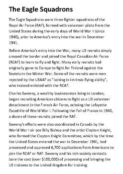 The Eagle Squadrons Handout
