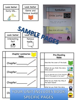 The Ear, the Eye, & the Arm Interactive Literature & Grammar Notebook Foldables