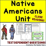 Native Americans Unit | Reading Comprehension Passages and Questions