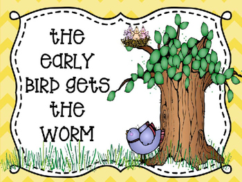 The Early Bird Gets the Worm Medial Vowel Fun