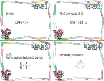 The Early Bird Task Cards Common Core Math Mega Pack