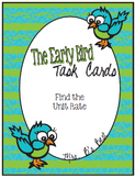 The Early Bird Task Cards: Find the Unit Rate