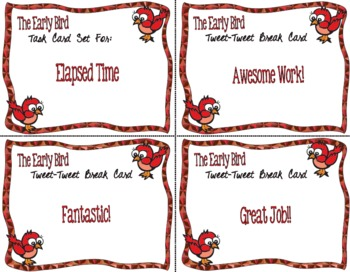 The Early Bird Task Cards for Elapsed Time