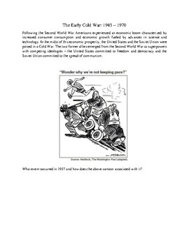 The Early Cold War 1945-1970 Unit Packet