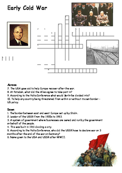 The Early Cold War Crossword