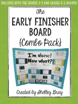 The Early Finisher Board™ Combo Pack {Grades 2-4 and Grades 5-6 Versions}