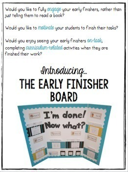 The Early Finisher Board™ Combo Pack {Kindergarten, Gr. 1 and Gr. 2-4 versions}